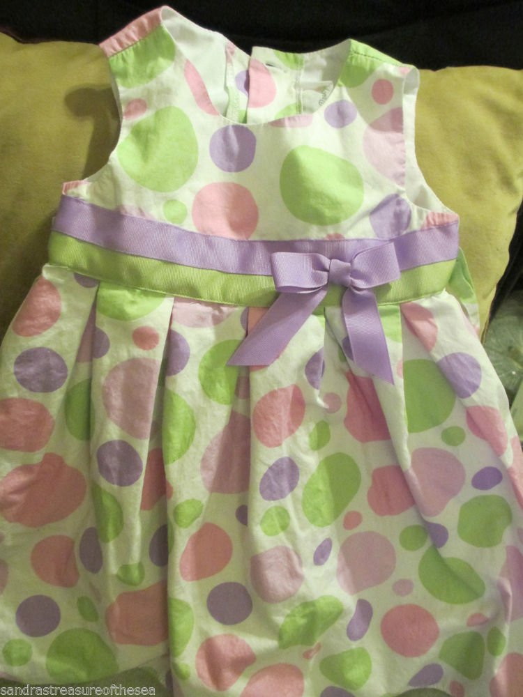 Girls Sophie Rose Pastel Dot Sundress Sz 3T Dress Up Casual or Holiday