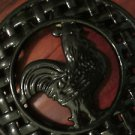 Classic Rooster Trivet Wrought Iron Art Use As Hot Pad Hang Up Art Decor