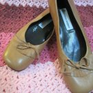 Gently Worn Etienne Aigner 7M  Tan Flats Very Quality Soft Leather