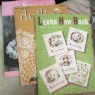 Two Booklets 1940s Crochet Doilies and a How To Book Teaching All Needle Crafts