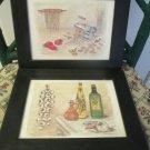 Two Martha Hinson Signed Numbered Prints Italian Cusina Series Pasta Oil 1993