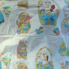Two Panels Happy Easter Fabric Appliques To Make Adorable Easter Craft Gifts