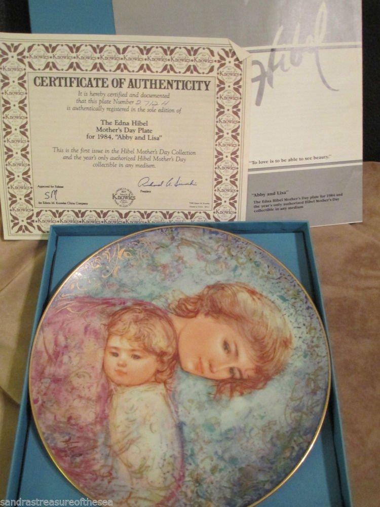 Vintaqge Edna Hibel Abbie Lisa Plate Series Knowles Collector Plate 1984 Ltd Ed