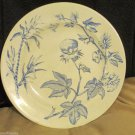 Vintage Cotton Plant Pattern Dinner Plate Marked E S Engraved B Another E Stamp