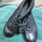 Girls Capezio Black Leather Tap Jazz Soft Dance Shoes Group Dance Class 4.5 M