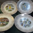 Lot Vintage State Collector Plates Many States Available Decorate Art Wall