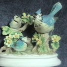 Late 50s Arnart Porcelain China Bluejays Figurine Japan