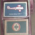 Two Decks Playing Cards Vintage American Airlines DH 4 and AstroJet in Case