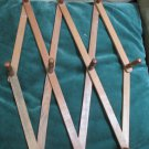 Vintage Ten Peg Wood Expandable Folding Wall Hanger Mug Coat Hat Rack Home Decor