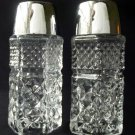 Two Anchor Hocking Wexford Clear Pattern Salt and Pepper Set Diamond Point