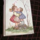 Vintage Sentiments Music Sisters On The Front Faux Pink Book  Music Box Card