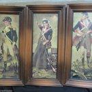 Three Vintage Henry Thomas Revolutionary Framed Litho Prints