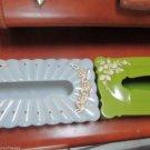 Vintage Retro Schwarz Bros Lime W Menda Aqua Plastic Kleenex Tissue Holder PLUS