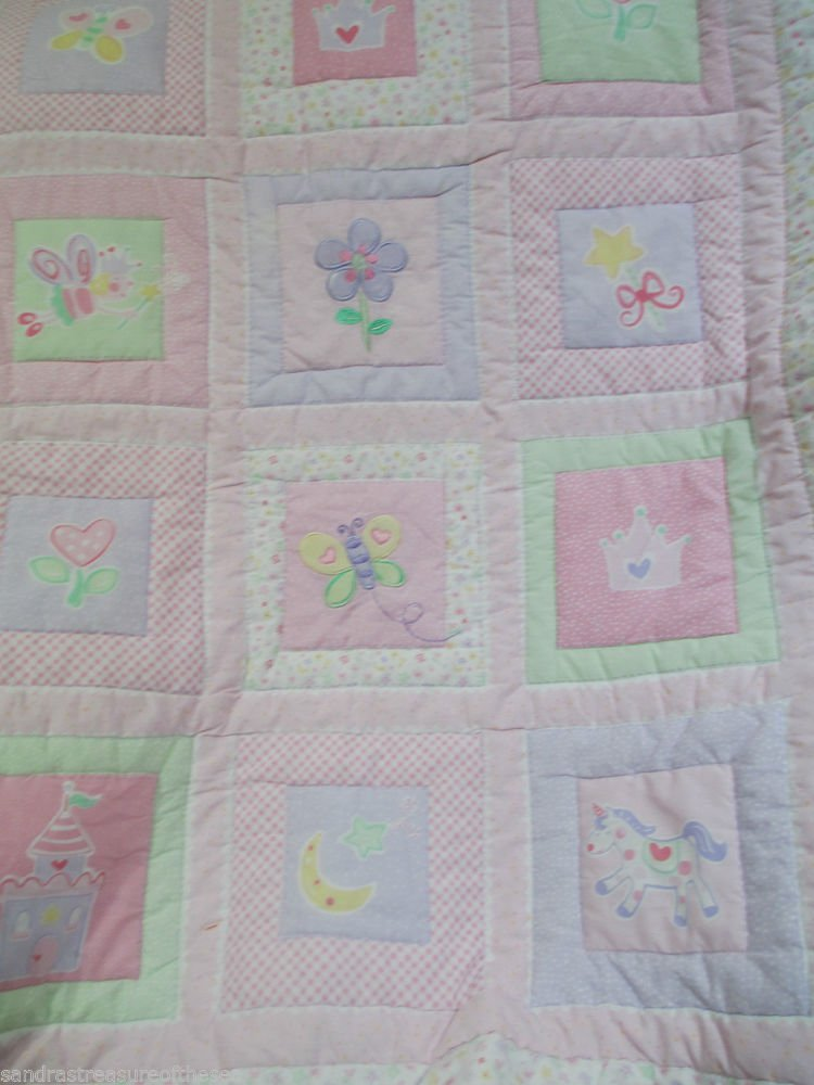 Circo Baby Toddler Crib Comforter Quilt Reversible Butterfly Crown Unicorn Plus