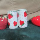 Vintage Rosenthal Netter Fresh Fruit Strawberries Salt and Pepper Set Japan Plus