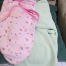 Two Summer Baby Girls Swaddle Me Swaddling Blankets Wraps Two Sizes Sm to Med LG