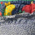 California Kids Nursery Bedding Crib Set Zoo Animals Primary Colors Cute