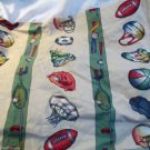 All Sports Standard Crib Skirt Boys Tan Green W Sports by Patch Kraft Quality