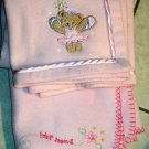 Baby Crib Blankets Two Pink Girls 30 X 40 Sweet Baby Princess Bear Tiddliwinks