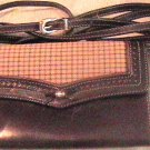 Brighton Brown Leather and Plaid Clutch Wallet Purse