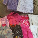 Lot Girls 6 to 9 months Clothes Carters BonBebe Child of Mine Fisher Price Nice