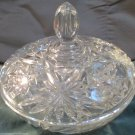Precut Clear Pattern Crystal Glass by Anchor Hocking 1960 Large Candy Dish