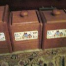 Set of Four Wooden Canisters Matching Newcor 1986 Our Country Ptn 6004