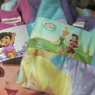 Dora The Explorer Plus Disney Tinkerbell Blanket Sleepers Footed Pajamas 2T NWT