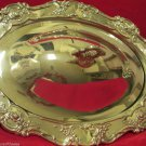 Ornate Silver Plated Serving Chaffing Dish Pan Floral Design Covered w Handle