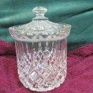 Gorham King Edward  Pattern Lead Crystal Barrel Biscuit Jar with Lid Germany