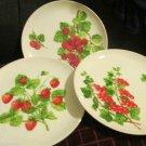 French Named Plates by Mann,Fraisier des Jardins  Groseiller Rouge  Framboisier