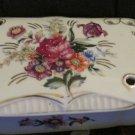 Vintage Handpainted Thames Floral Design Gold Accents Trinket Box Japan Ceramic