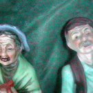1960s Old Lady  and Man ARDCO Fine Quality China Figurines Japan