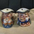 Two Vintage Porcelain Toby Character Colonial Style Mini Creamers Hand Painted
