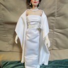 Jackie Kennedy Franklin Mint Vinyl Doll Indian State Visit White Satin Gown