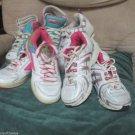 4 Pr Girls Athletic Tennis Shoes High Top Sketchers OP Air Speed Target Sz 13