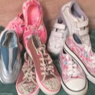 5 Pr Girls Tennis Shoes Sketchers Extremely Me Reebok SmartFit Sz 12 Shoes