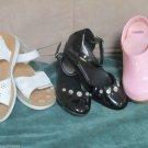 3 Pr Girls Pink Clog Blk Patent Gymboree Self Esteem Shoes Youth Sz 11 M Shoes
