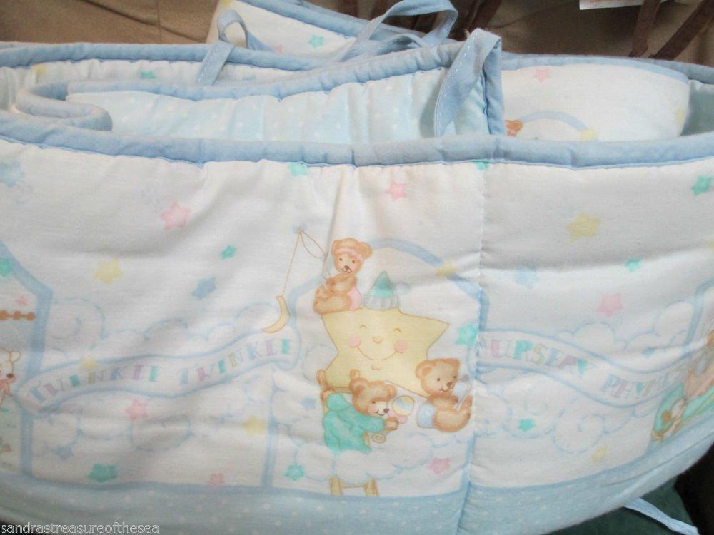 Springmaid Crib Bumper Standard Crib Nursery Rhyme Bo Peep Design Reversible
