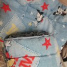 Cute Mickey Mouse Denim Color Disney Crib Bumper and Comforter by Crown Crafts