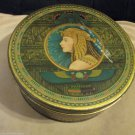 Vintage Sunshine Fruit Cake Tin Loose Wiles Biscuit Company Egyptian Art Deco
