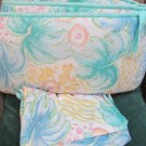 Cute Baby Crib Bumper Pad Pastel Leaves Pattern and Matching Sheet By DunDee