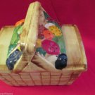 Vintage McCoy Fruit Basket Cookie Jar Picnic Basket