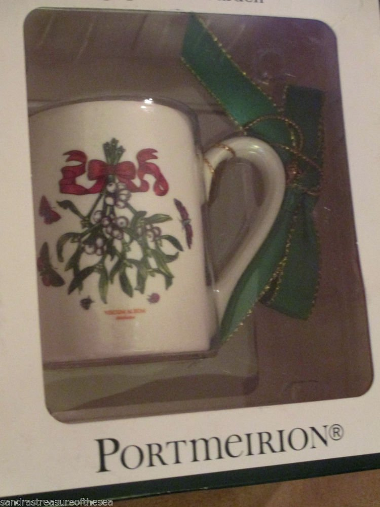 Portmeirion Botanic Garden Coffee Cup Viscum Album Christmas Ornament NIB