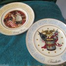 Avon 1973 Betsy Ross 1974 Freedom Collector Plates by Enoch Wedgwood England