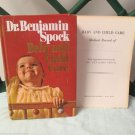 Vintage Baby Child Care by Dr. Benjamin Spock 1968 Hardcover With Medical Record