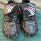 Youth Girls Lotto Diadora Soccer Cleats Sz.4 Y Black Pink Accent Cleats Sports