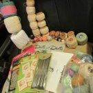 Vintage Lot Boye Crochet Needles How To Books Crochet Darning Tating Thread