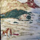5th Avenue Designs.Western Screen Print Fabric Mountains Large Relief Chracters