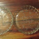 Three Anchor Hocking Savannah Tiny Floral Design Quiche Pie Baking Dishes